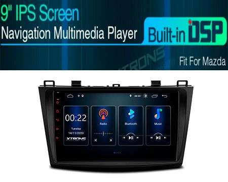 "9"" ANDROID 10 DSP QUADCORE CAR GPS 3 ZONE MAZDA 3 10-13"