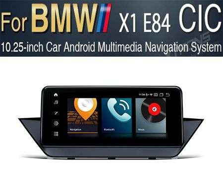 "10.25"" 4G QUALCOMM 8CORE 4GB+64GB GPS ANDROID 10 BMW X1 E84 CIC"