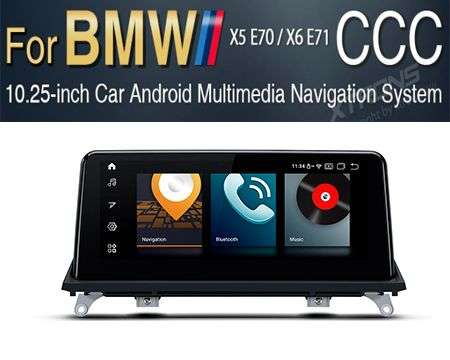 "10.25"" 4G QUALCOMM 8CORE 4+64GB GPS ANDROID 10 BMW X5 E70 CCC"
