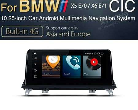 "10.25"" 4G QUALCOMM 8CORE 4+64GB GPS WIFI ANDROID 10 BMW X5 E70 X"