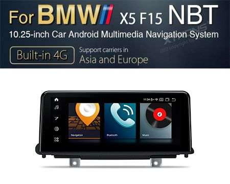 "10.25"" 4G QUALCOMM 8CORE 4+64GB GPS ANDROID 10 BMW X5/X6 F15"