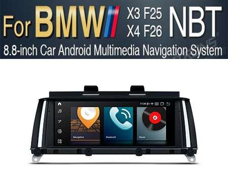 "8.8"" 4G QUALCOMM 8CORE 4+64GB GPS ANDROID 10 BMW X3 F25 X4 NBT"