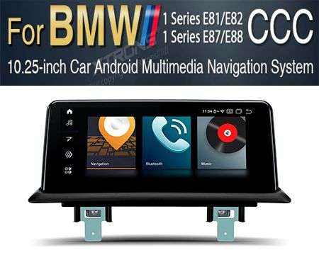 "10.25"" 4G QUALCOMM 8CORE 4+64GB GPS WIFI ANDROID 10 BMW 1 E81 CC"