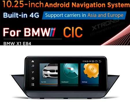 "10.25"" 4G QUALCOMM 4CORE 2+32GB GPS ANDROID 10 BMW X1 E84 CIC"