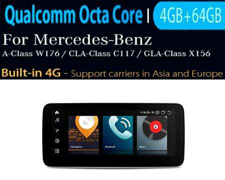 "10.25"" 4G QUALCOMM 8CORE 4+64GB GPS ANDROID 10 A