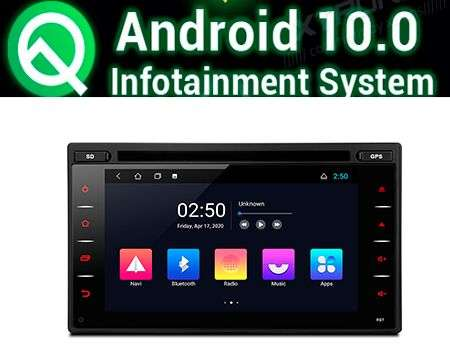 "6.2"" ANDROID 10 QUADCORE CAR DVD GPS 3 ZONE WIFI 2 DIN & NISSAN"