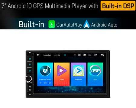 "2 DIN 7"" ANDROID 10 CARPLAY